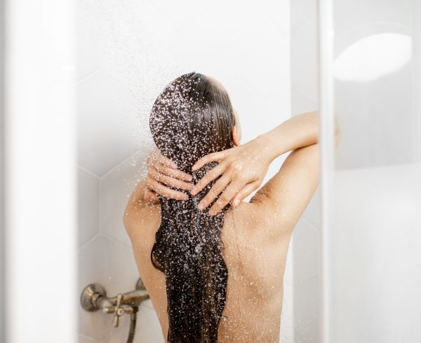 hard water shower